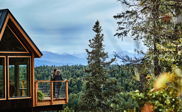Princess Cruisetour guests will have the opportunity to hang out in a treehouse overlooking Mt. Denali.