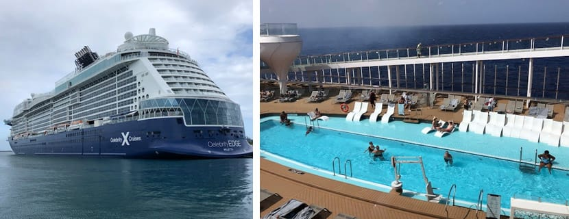 Celebrity Edge Exterior and Pool Deck sailing on Celebrity Edge in July 2021