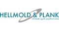 hellmold & plank logo in grün, grau und weiß