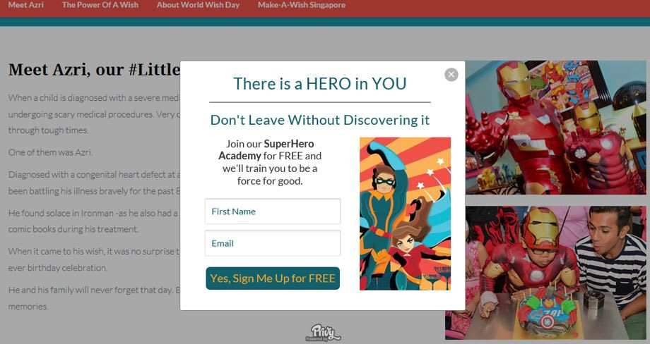 Nonprofit lead generation case study Hero Academy
