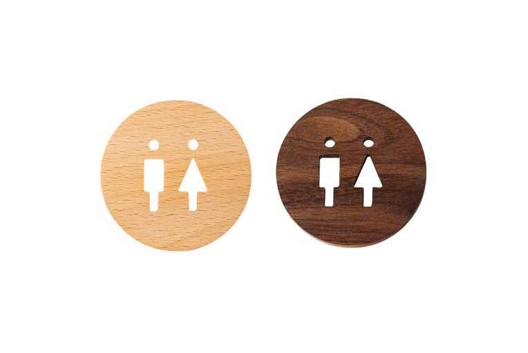 ウッドサイン トイレ