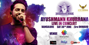Ayushmann Khurrana Live Concert in Bangalore at Manpho