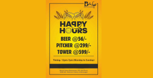 Happy Hours at Bottle & Glass
