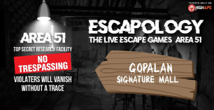 Escapology – (Area 51)The Live Escape Games