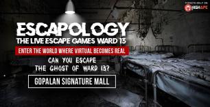 Escapology –(Ward 13)  The Live Escape Games