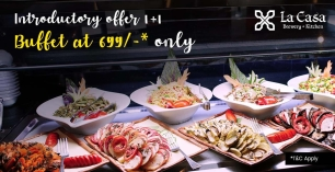 Introductory Offer 1+1 on Buffet