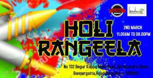 Holi Rangleela Biggest Festival Party at Eiffel Green Resort