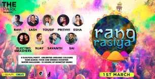 Rang Rasiya Holi Party 2018 at The park I Bar