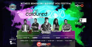 Let's Get Coloured ed 2.0 - Holi Festival Celebration 2018 - 3rd March at Topsy Turvy