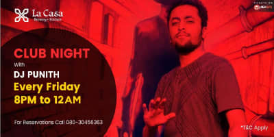 Club Night with DJ Punith
