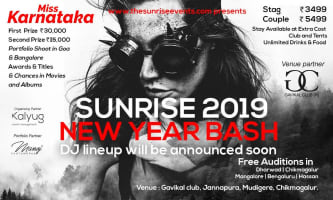 The Sunrise 3.0 – New Year Bash With Miss Karnataka Event