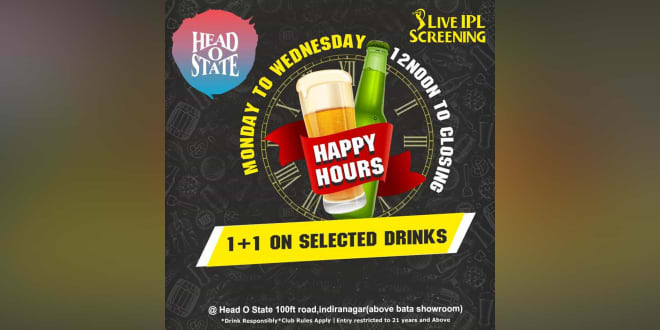 Live IPL Screening (Monday to Wednesday)