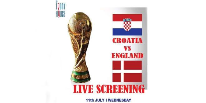 Croatia Vs England Live Screening