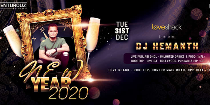 Biggest New Year Bash - 2020 At Loveshack Rooftop
