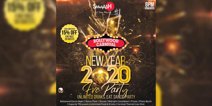New Year Eve 2020 Carnival Bollywood Dance Party