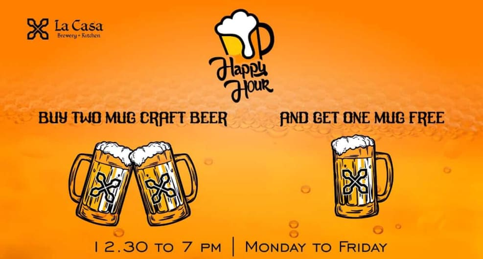 Buy 2 Mugs of Craft Beer & Get 1 Free