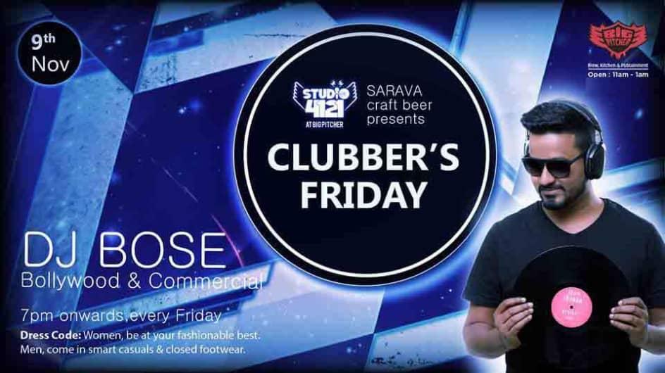 Clubbers Friday Night- 9th Nov 2018
