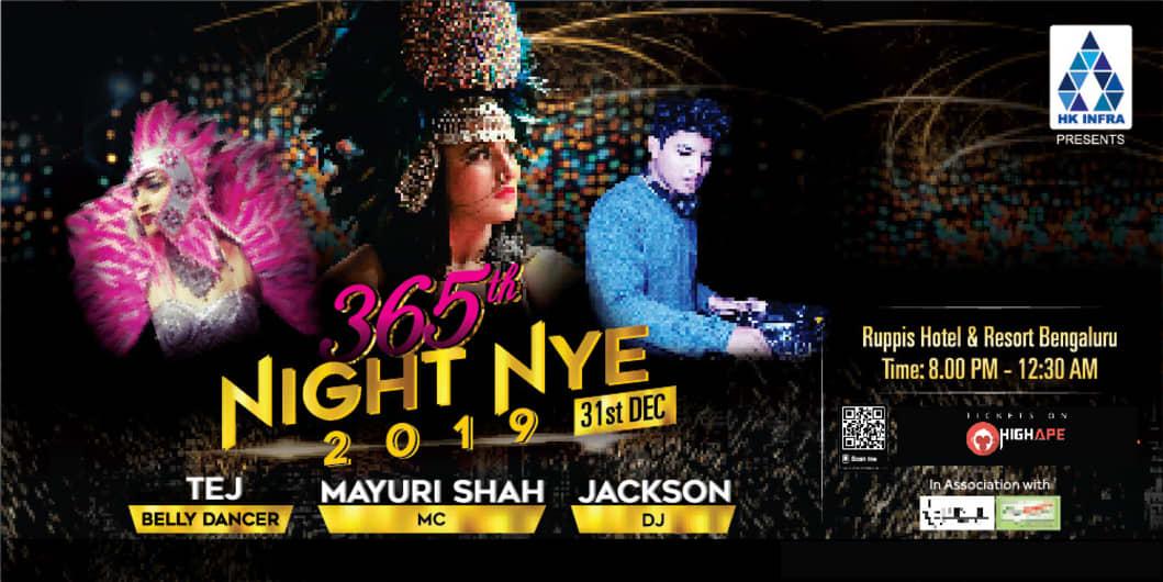 365th Night NYE 2019 New Year Party 2019 In Bengaluru