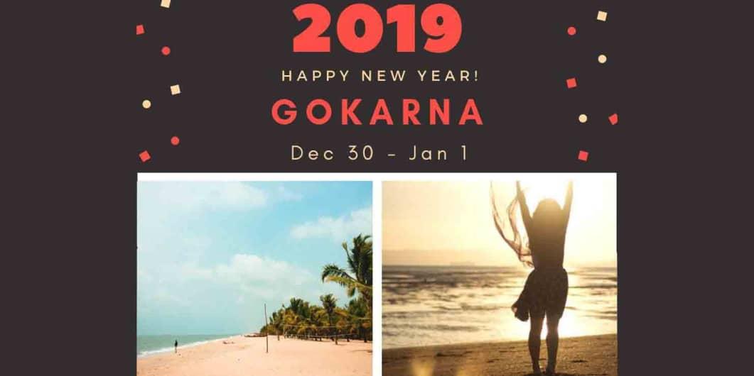 New Year 2019 - Gokarna Beach Party || Monks on Wheels