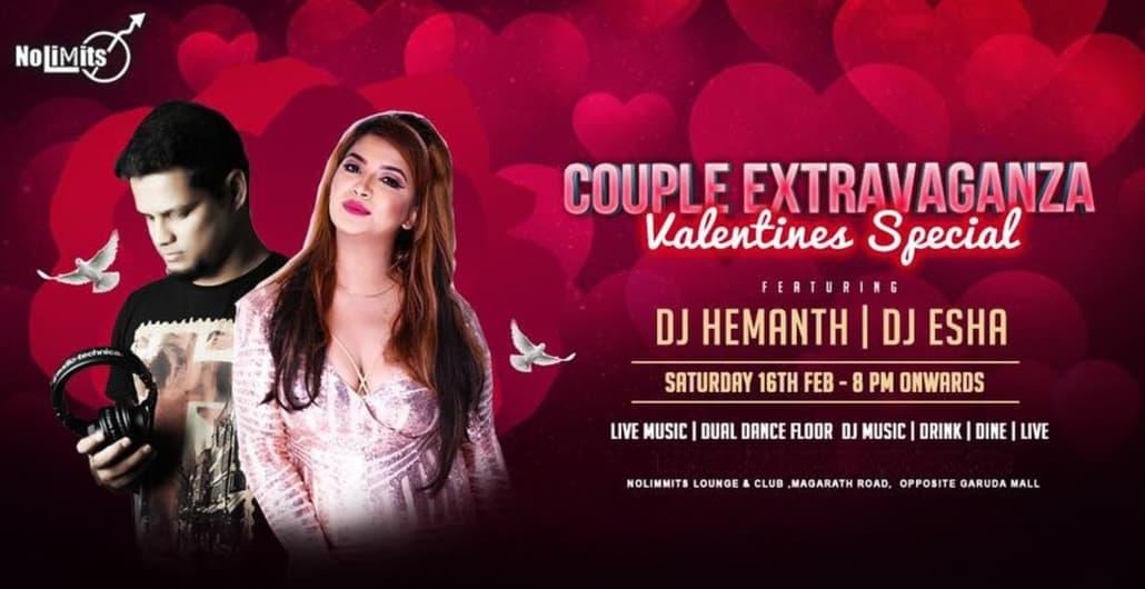 Extravaganza' Ft. DJ Hemanth & DJ Esha at Nolimmits.