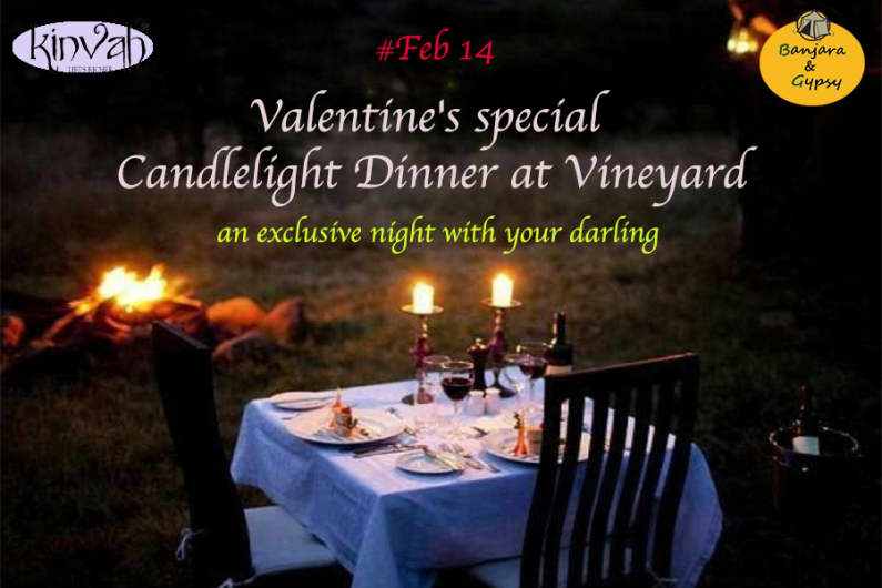 Valentine's special Candlelight Dinner at Vienyard