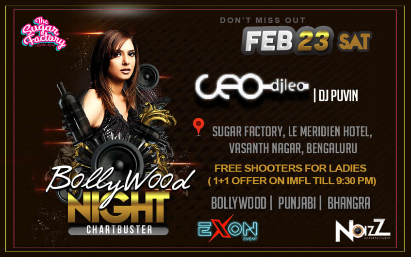 Bollywood Chartbuster Saturday at The Sugar Factory