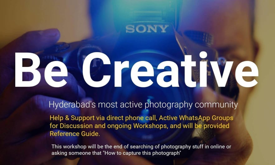 Basics Of Photography Workshop - Charminar