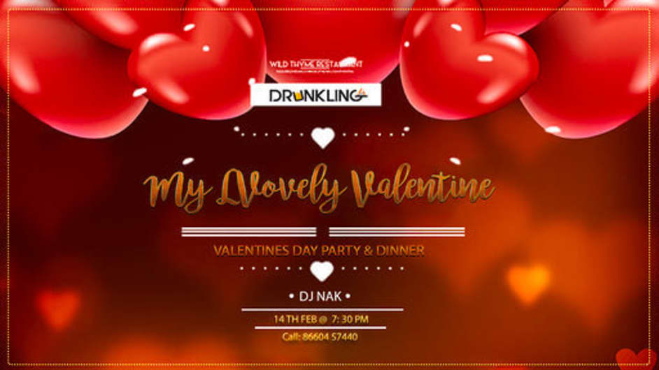 MY LOVELY VALENTINE-VALENTINE'S DAY PARTY & DINNER WITH DRINKS