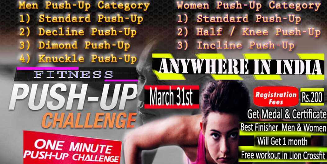 Fitness Push-up Challenge  Men-Women