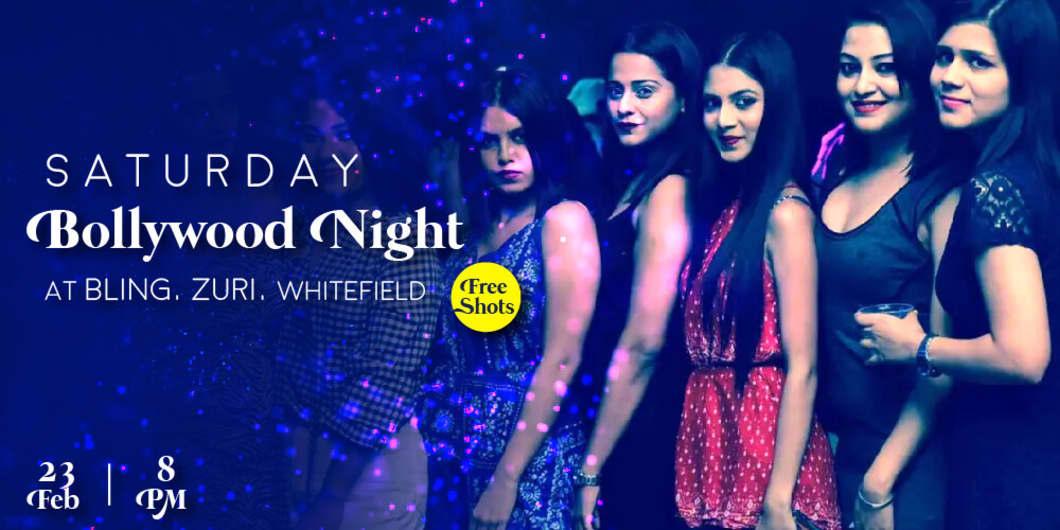 Saturday Bollywood Night at BLING, ZURI, WHITEFIELD (Free Shots)
