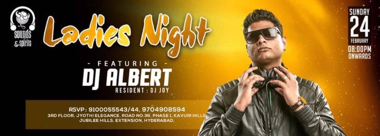 Sunday ladies night with DJ Albert