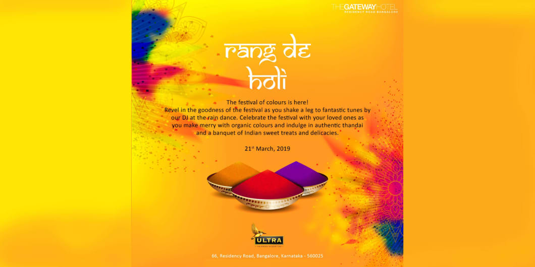 Rang De Holi at Taj Gateway Hotel