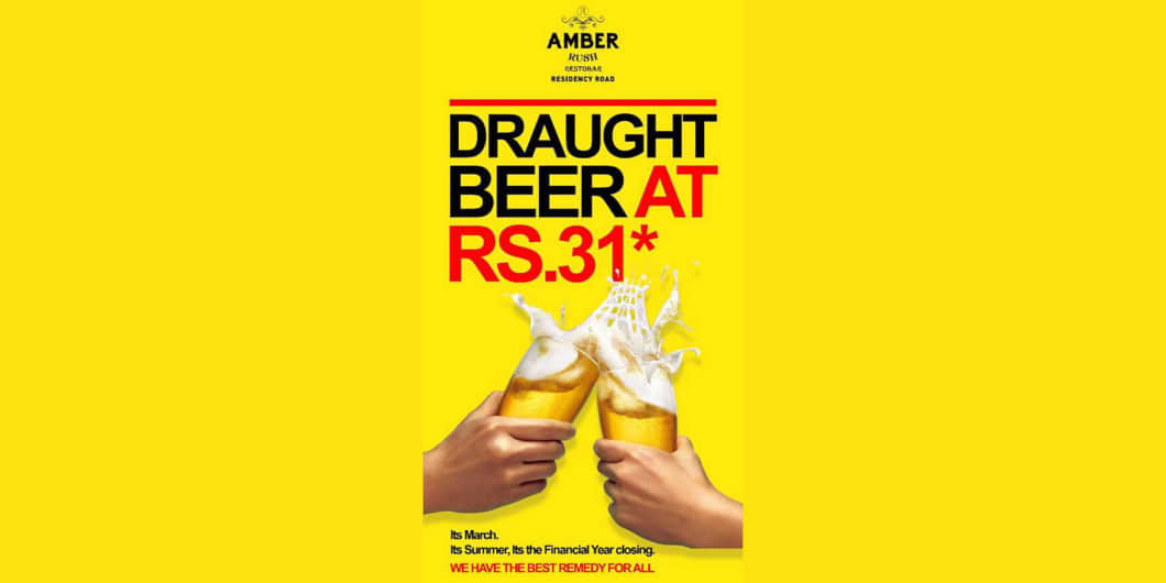 Draught Beer Offer at 31 -  Amber Rush
