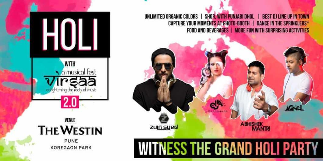 Holi With Virsaa 2.0 - The Biggest Holi Festival.