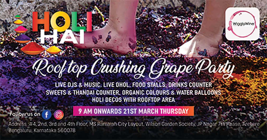 Holi Hai - Rooftop Crushing Grape Party