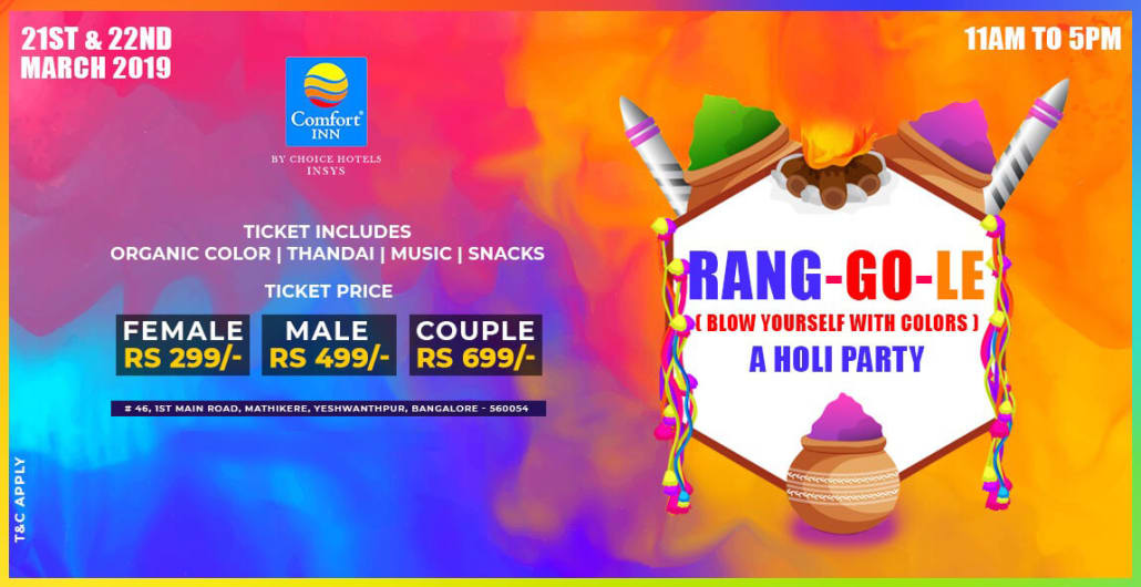 Rang-Go-Le - Holi Party 2019