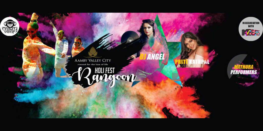 Rangoon Holi Fest Happening At Aamby Valley City