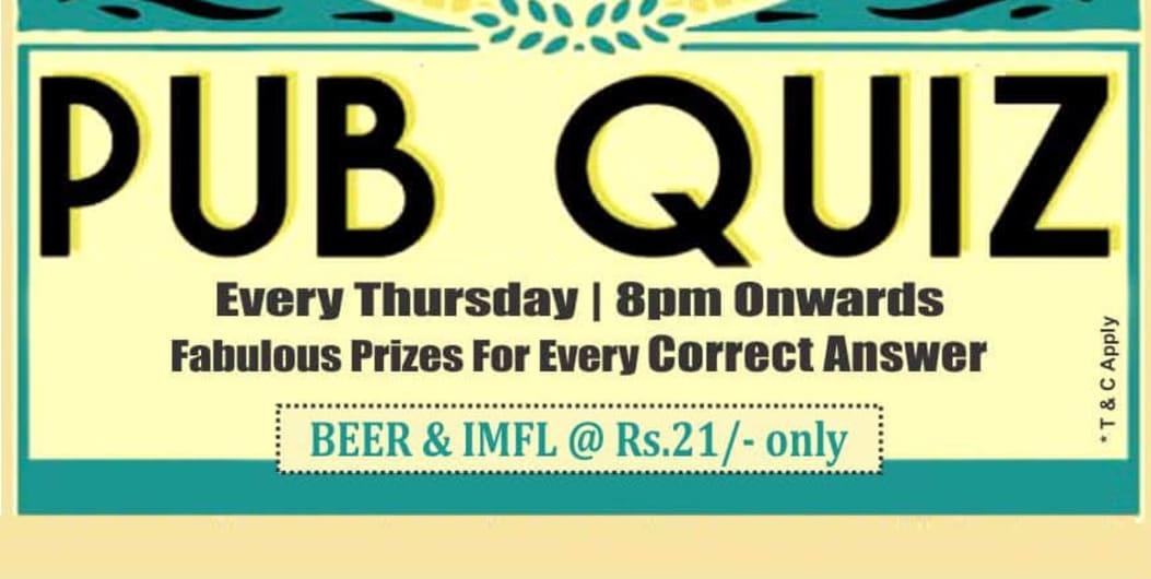 Thursday Pub Quiz