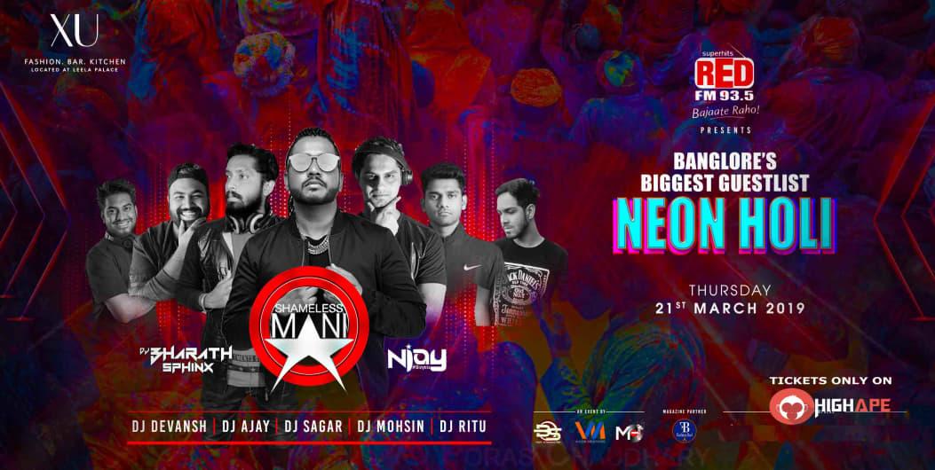 Bangalore Biggest Guestlist Holi Event