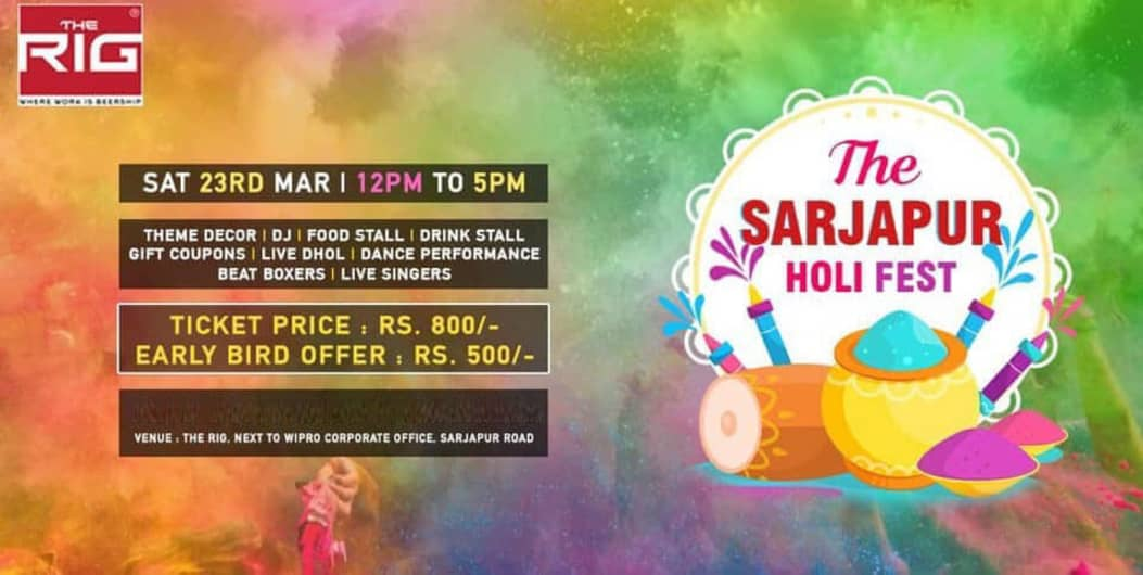 Sarjapur Holi Fest at The Rig