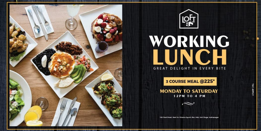 LOFT 38 I Working Lunch (3 Course Meal)