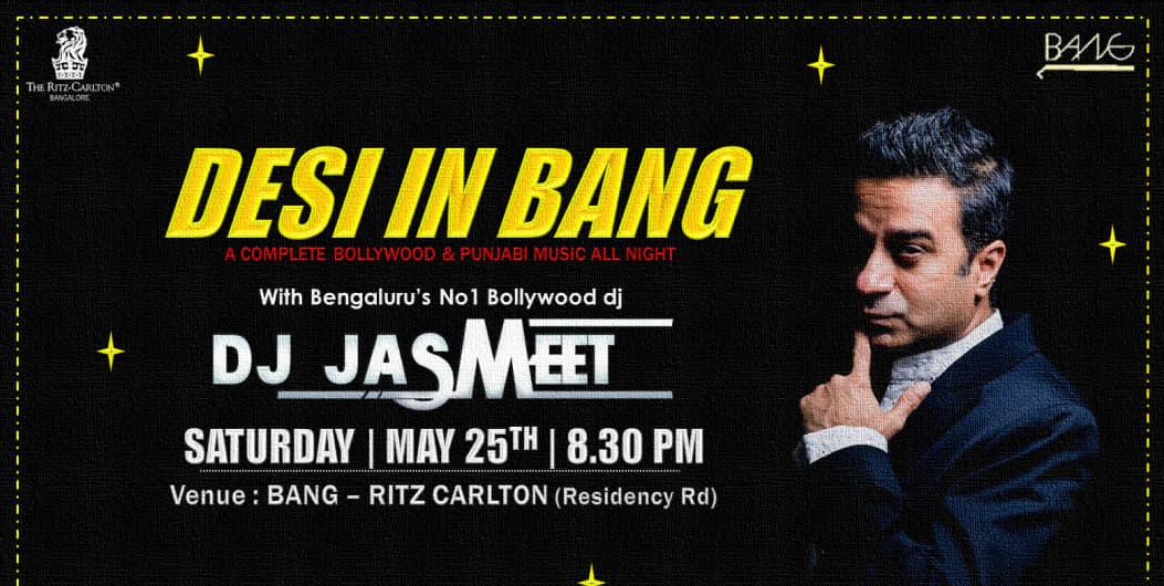 Big Bollywood Disco Night With DJ Jasmeet at BANG Ritz Carlton