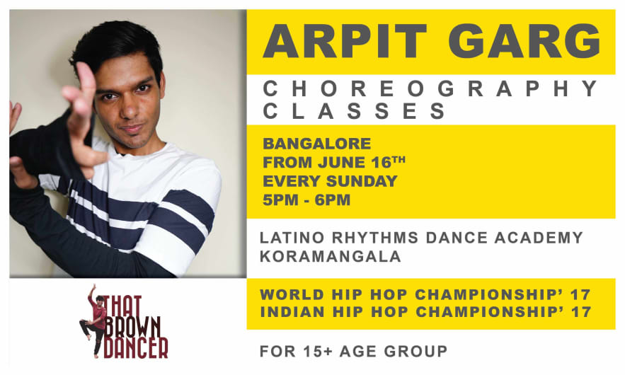 That Brown Dancer Presents Choreography With Arpit Garg
