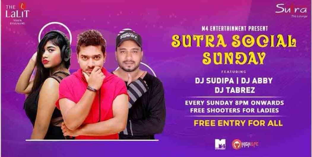 Grand Bollywood Punjabi Social Sunday at Sutra, The Lalit Ashok