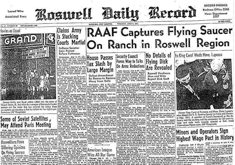 RoswellDailyRecordJuly81947 cecqpv ijj3xd Ρόσγουελ: Ανατομία ενός εξωγήινου;
