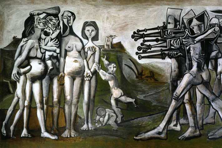 Pablo Picasso Massacre In Korea hitbpg Πολιτική αναλγησία: Η κατάρα