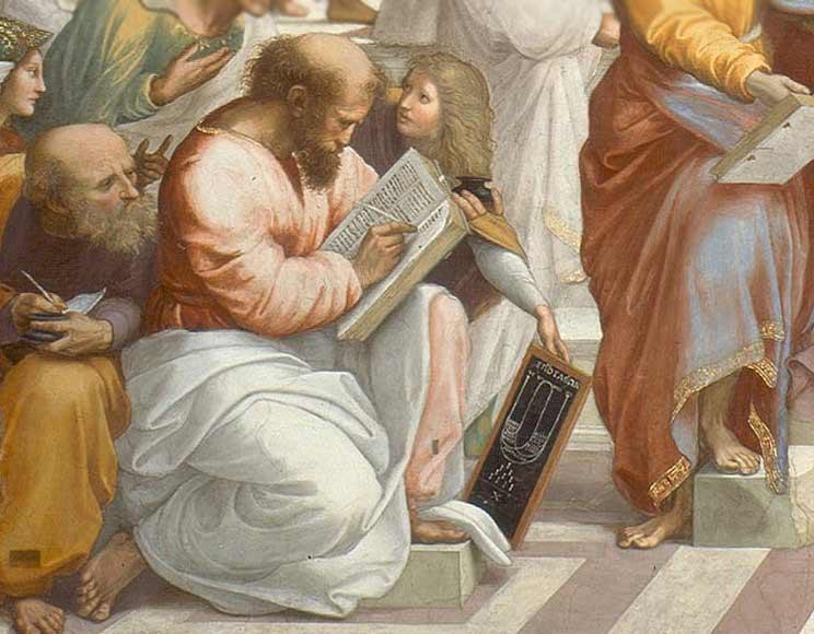 Pythagoras Raphaels School of Athens Η αρμονία των σφαιρών του Πυθαγόρα και το Σύμπαν