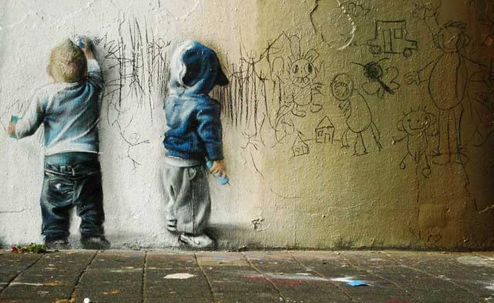 street artwo kids sskeo5 Βάρβαρο είναι...