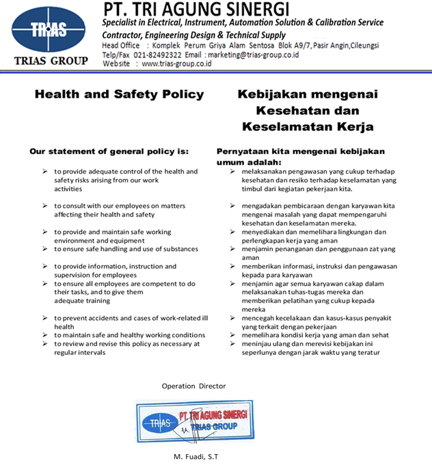 Health and Safety Policy 1