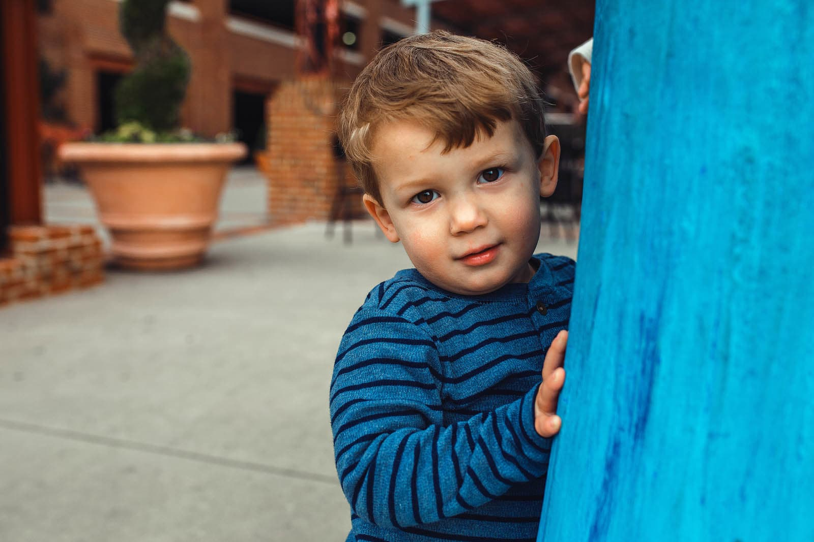 outdoor portrait session with 2 year old boy